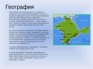 География Берега Чёрного моря изрезаны мало и, в основном, в северной его час