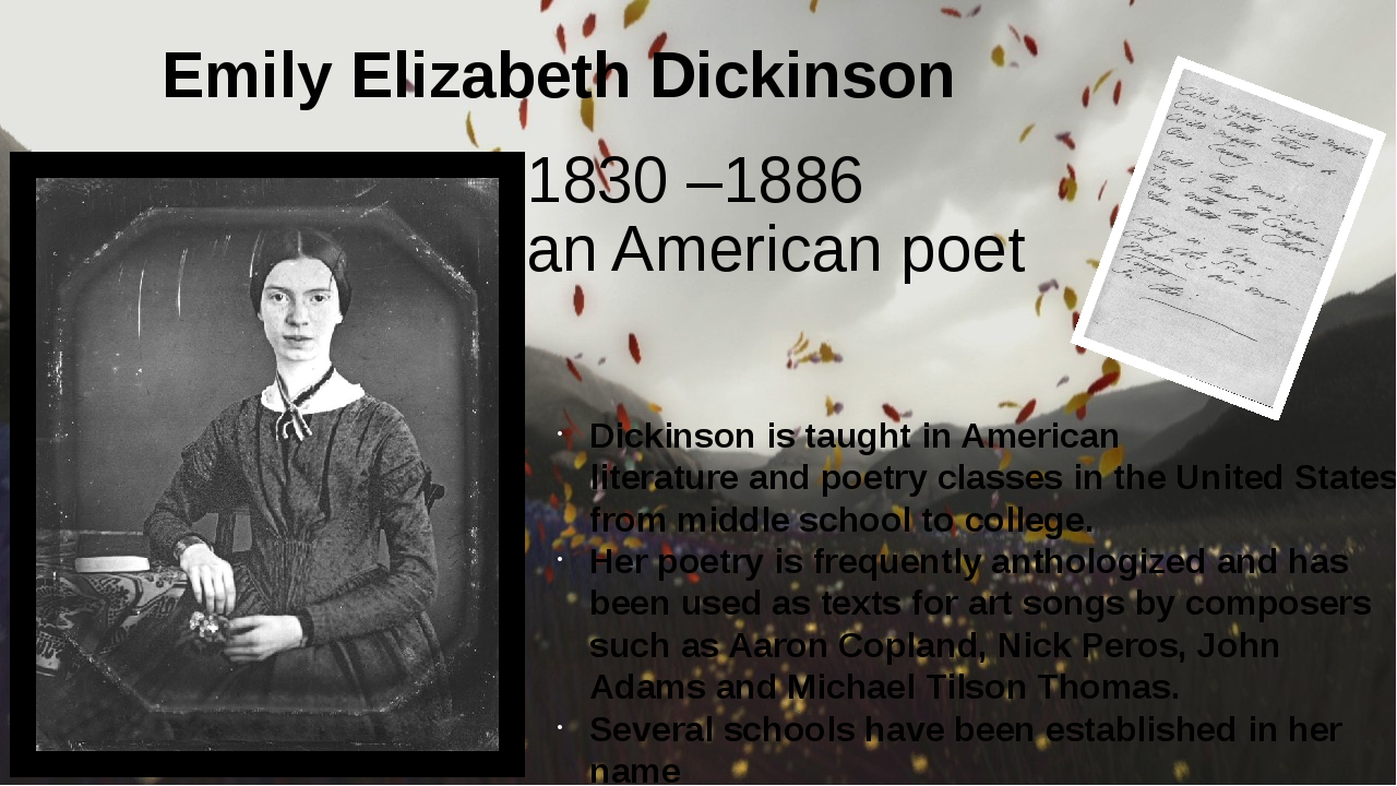 a biography of one of americas most famous poets was born emily elizabeth dickinson William stanley merwin is one of the most famous american writers, an active participant of the anti-war movement in the 1960s his works on the environmental theme are important element of his activity born: september 30, 1927 new york, new york editor, poet, linguist merwin also refers to the philosophy of buddhism in his creative work the writer's bibliographical list includes more than.