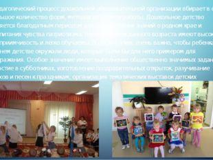 Педагогический процесс дошкольной образовательной организации вбирает в себя