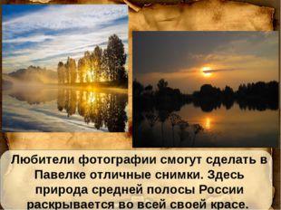Любители фотографии смогут сделать в Павелке отличные снимки. Здесь природа с