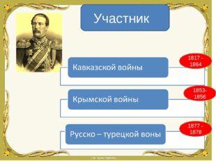 Участник 1817 - 1864 1877 - 1878 1853- 1856