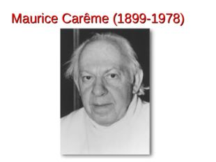 Maurice Carême (1899-1978)