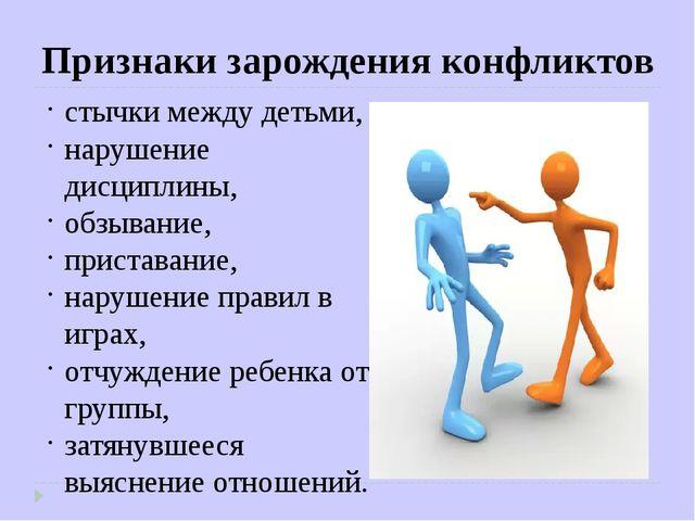 стычки между детьми, нарушение дисциплины, обзывание, приставание, нарушение...