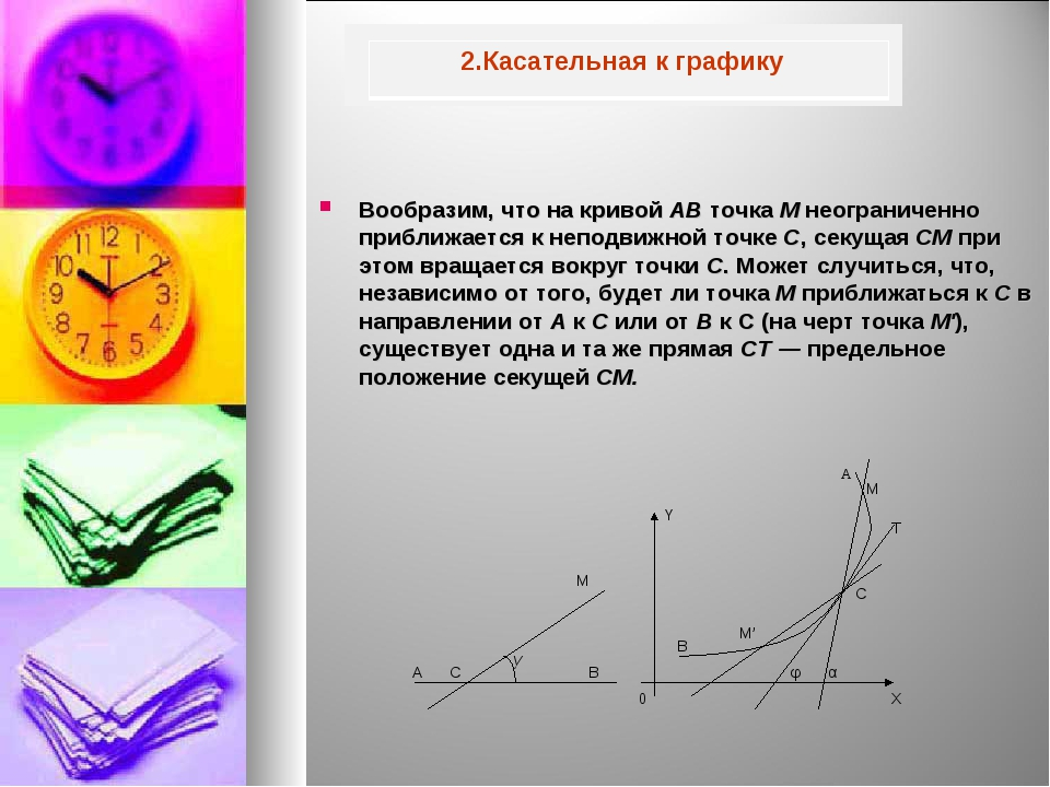 Вообразим, что на кривой АВ точка М неограниченно приближается к неподвижной...