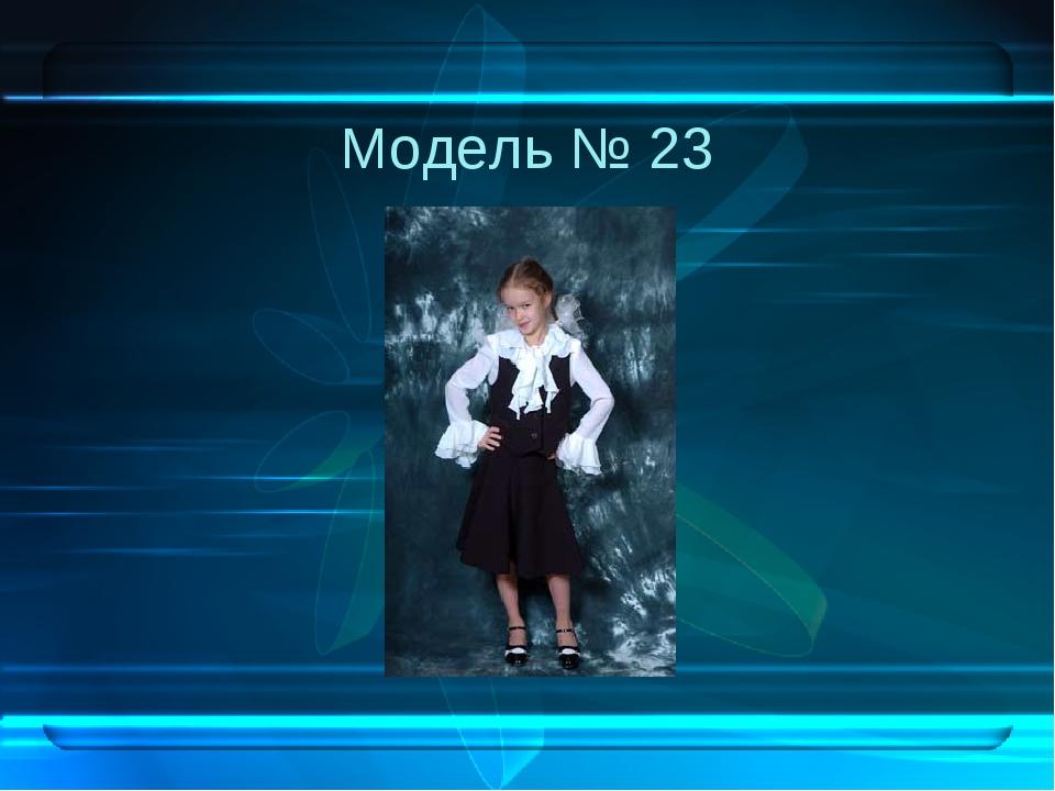 Модель № 23