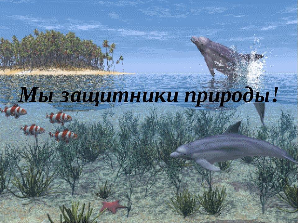 Мы защитники природы!