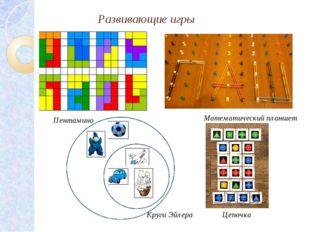 Развивающие игры Математический планшет Пентамино Круги Эйлера Цепочка