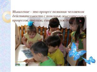 Мышление - это процесс познания человеком действительности с помощью мыслит