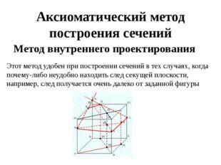 Аксиоматический метод построения сечений Метод внутреннего проектирования  Э