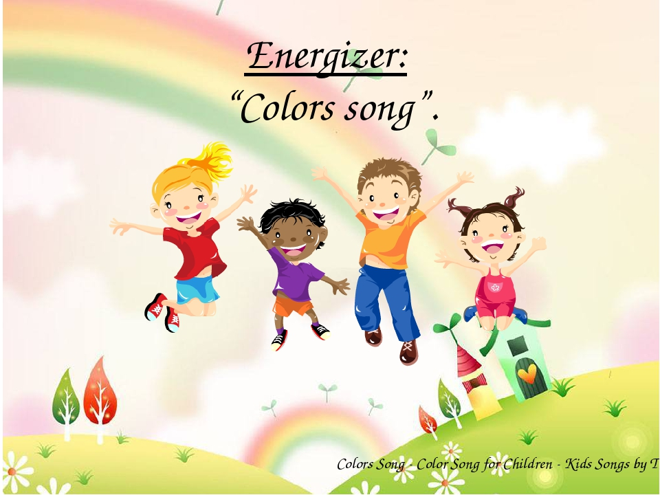 "Energizer: ""Colors song"". Colors Song - Color Song for Children - Kids Songs..."