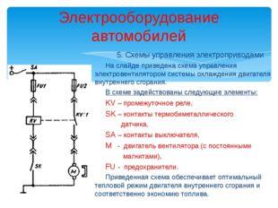 Электрооборудование автомобилей 5. Схемы управления электроприводами На слайд