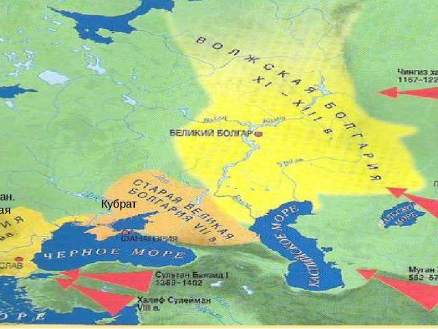 Кубрат Аспарух-хан. Славянская Болгария