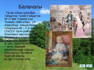 Балачагы Татар халык шагыйре Габдулла Тукай (Габдулла Мөхәммәтгариф улы Тукае