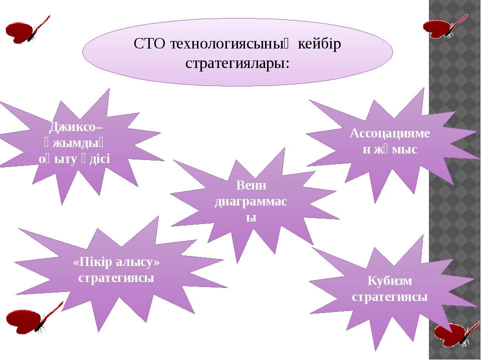 СТО технологиясының кейбір стратегиялары: Джиксо– ұжымдық оқыту әдісі Ассоцац...