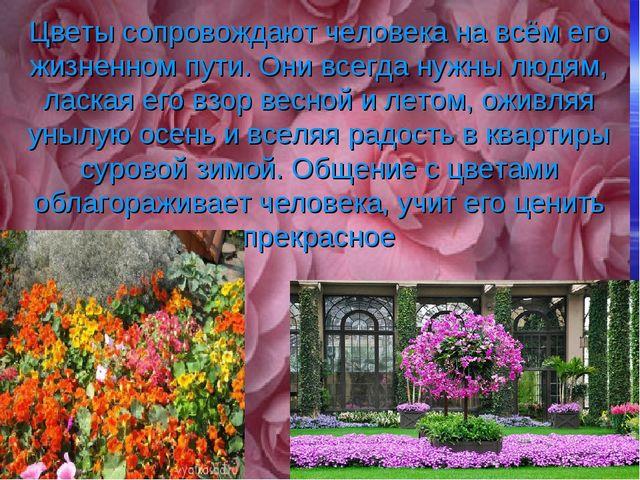 Цветы сопровождают человека на всём его жизненном пути. Они всегда нужны люд...