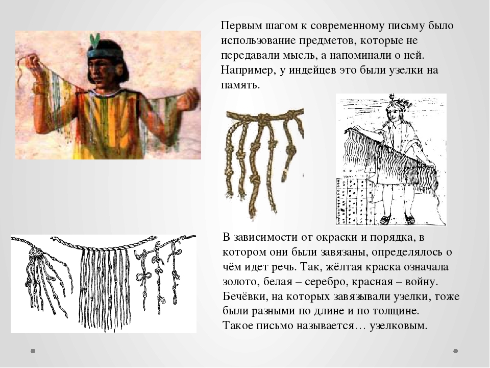 Первым шагом к современному письму было использование предметов, которые не п...