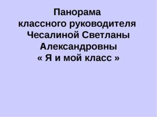 Панорама классного руководителя Чесалиной Светланы Александровны « Я и мой кл
