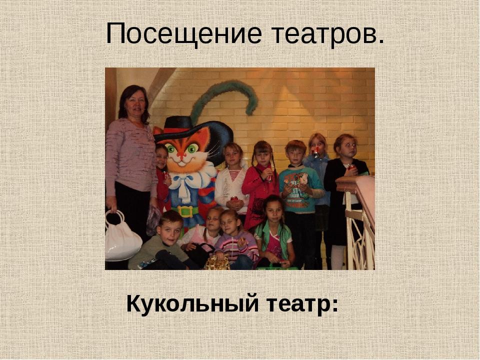 Посещение театров. Кукольный театр: