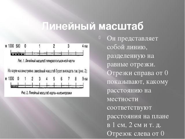 Линейный масштаб Он представляет собой линию, разделенную на равные отрезки....