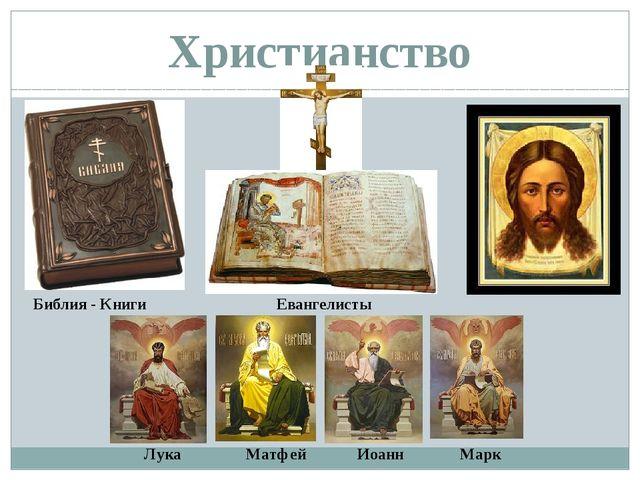 Христианство Лука Матфей Иоанн Марк Евангелисты Библия - Книги
