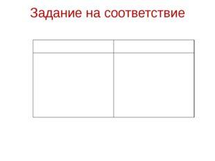 Задание на соответствие КлючКритерии 1 А,Г 2 Е,Ж 3 В,Д 4 И,К 5Б, З«5»-10-9