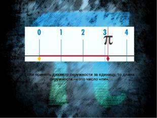 Если принять диаметр окружности за единицу, то длина окружности— это число «