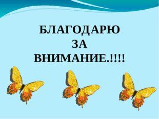 БЛАГОДАРЮ ЗА ВНИМАНИЕ.!!!!