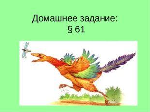 Домашнее задание: § 61