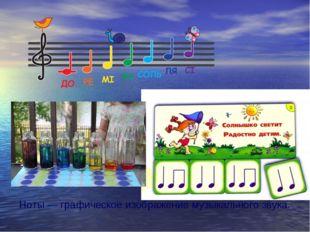 Ноты — графическое изображение музыкального звука.