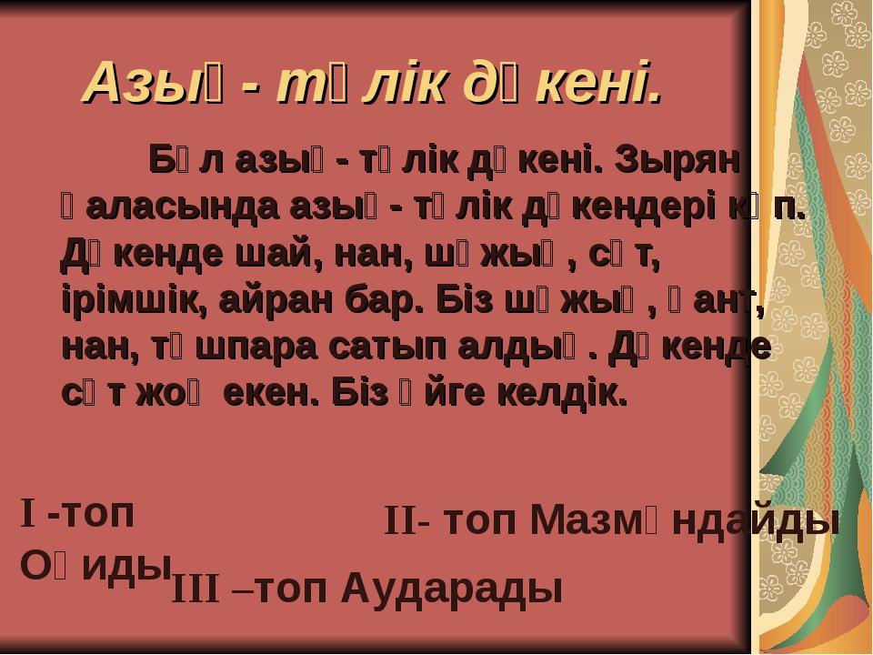 Азық- түлік дүкені. Бұл азық- түлік дүкені. Зырян қаласында азық- түлік дүке...