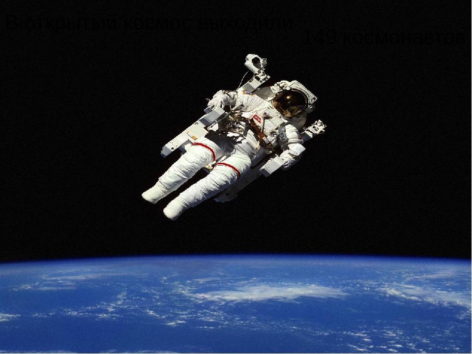 В открытый космос выходили 149 космонавтов