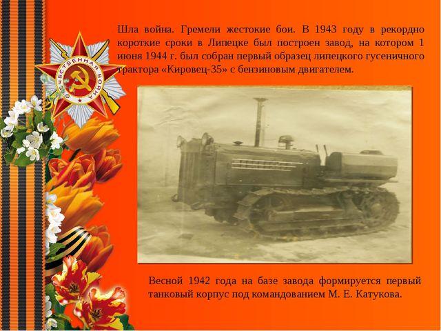 Шла война. Гремели жестокие бои. В 1943 году в рекордно короткие сроки в Липе...