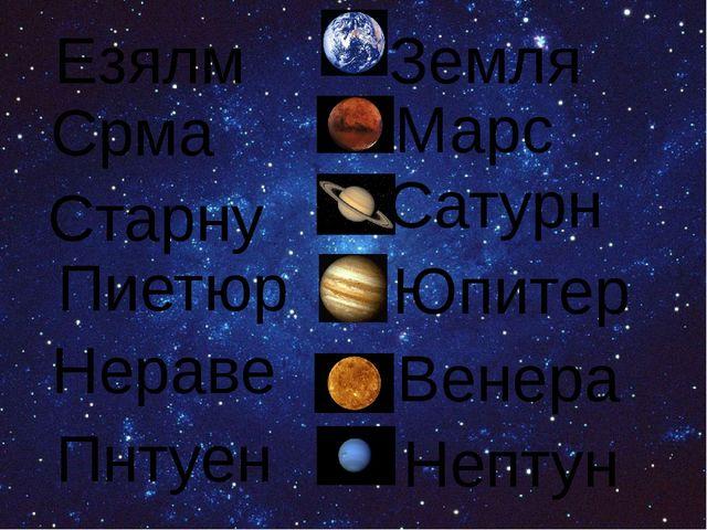 Езялм Срма Старну Пиетюр Нераве Пнтуен Земля Марс Сатурн Юпитер Венера Нептун