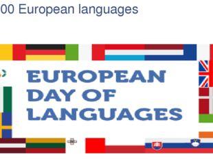 200 European languages