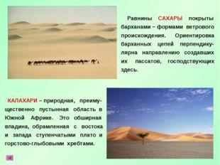 КАЛАХАРИ – природная, преиму- щественно пустынная область в Южной Африке. Эт