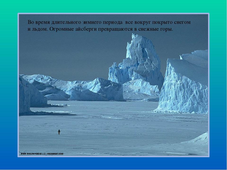 Во время длительного зимнего периода все вокруг покрыто снегом и льдом. Огром...