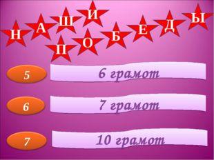 6 грамот 7 грамот 10 грамот Н А Ш И П О Б Е Д Ы