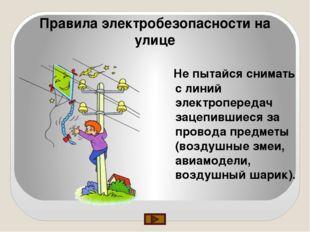 Правила электробезопасности на улице Не пытайся снимать с линий электроперед