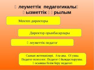Әлеуметтік педагогикалық қызметтік құрылым Мектеп директоры Директор орынбас