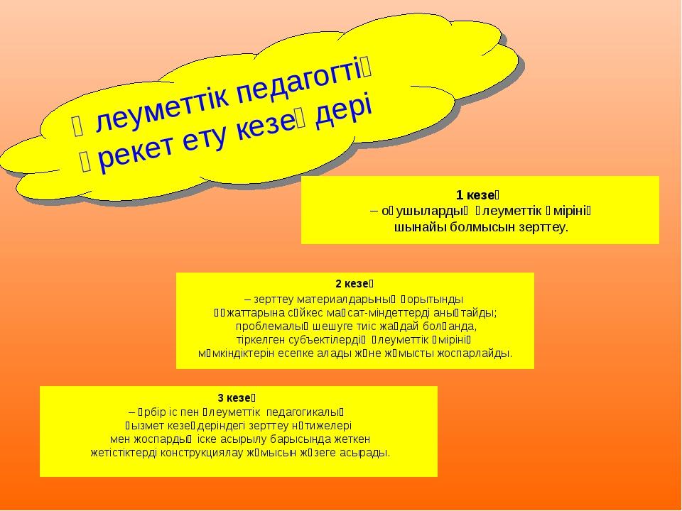 Әлеуметтік педагогтің әрекет ету кезеңдері 2 кезең – зерттеу материалдарының...