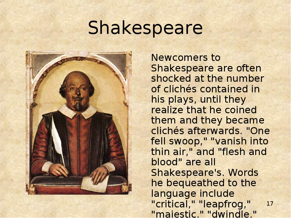 * Shakespeare Newcomers to Shakespeare are often shocked at the number of cli...