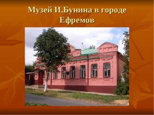 Музей И.Бунина в городе Ефремов