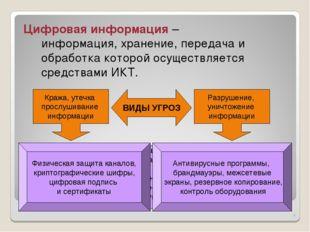 * Защита информации – деятельность по предотвращению утечки защищаемой информ