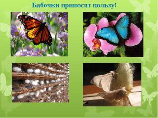 Бабочки приносят пользу!