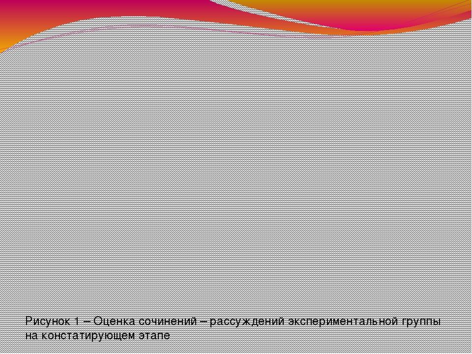 Рисунок 1 – Оценка сочинений – рассуждений экспериментальной группы на конст...