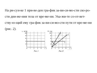 На рисунке 1 приведен график зависимости скорости движения тела