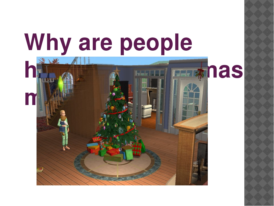 Why are people happy on Christmas morning?