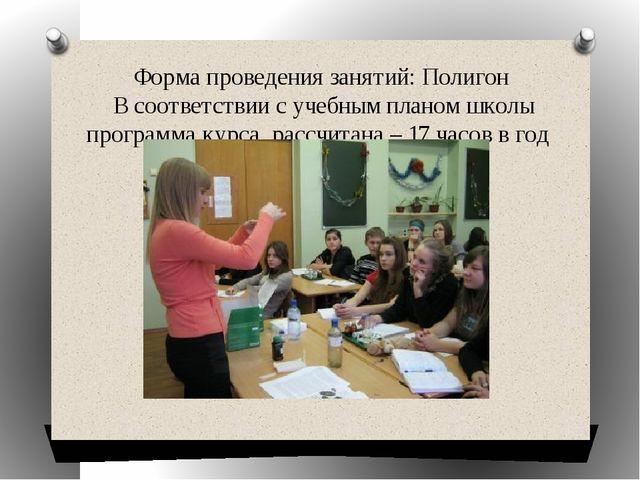 Форма проведения занятий: Полигон В соответствии с учебным планом школы прогр...