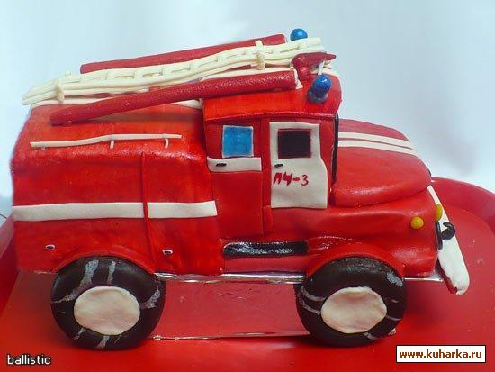 Как сделать пожарную машину из солёного теста