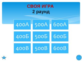 СВОЯ ИГРА 2 раунд